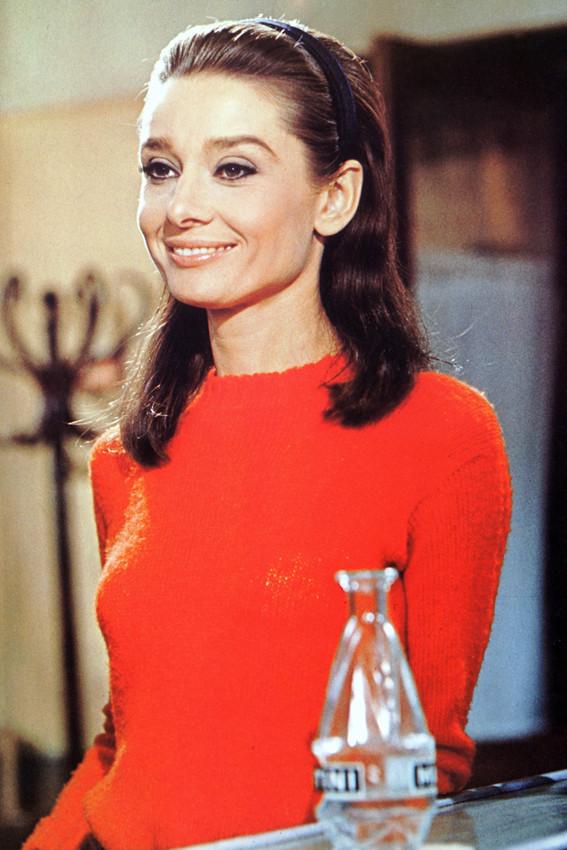 Audrey Hepburn Color In Red Top Photo Or Poster Ebay