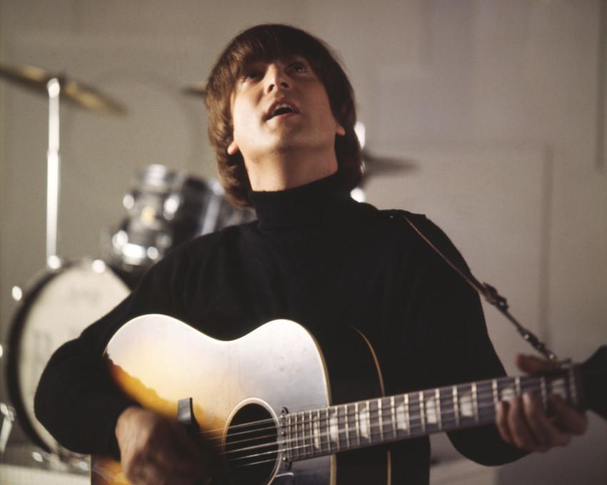 John Lennon Vintage The Beatles Playing Guitar Poster