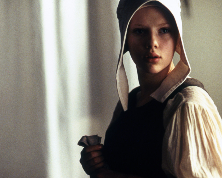 scarlett johansson girl with a pearl earring photo or